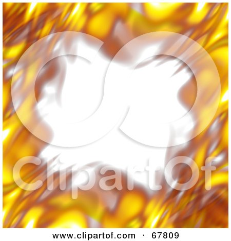 Royalty-Free (RF) Clipart Illustration of a Blurry Fiery Border On White by Arena Creative