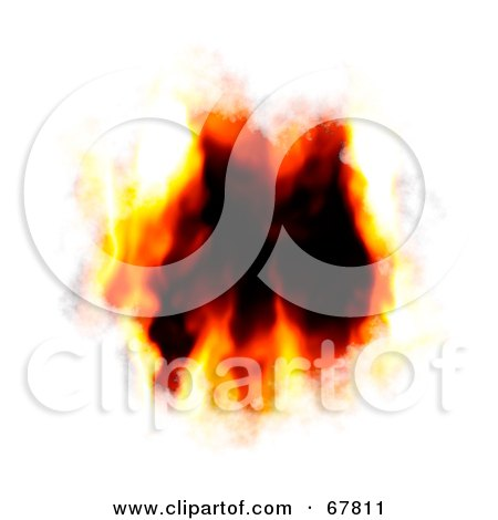 Royalty-Free (RF) Clipart Illustration of a Black Hole With Fire Burning Into White by Arena Creative