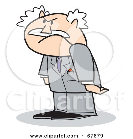 Royalty Free Clipart Illustration Grumpy Bald Old Walt