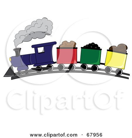 Royalty-Free (RF) Clipart Illustration of a Steam Train Hauling ...