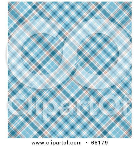 Royalty-Free (RF) Clipart Illustration of a Blue Plaid Background by MacX