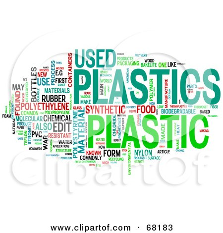 Royalty Free RF Clipart Illustration Of A Plastic Word Collage