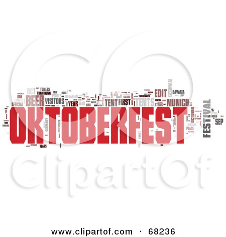 Royalty-Free (RF) Clipart Illustration of an Oktoberfest Word Collage - Version 2 by MacX