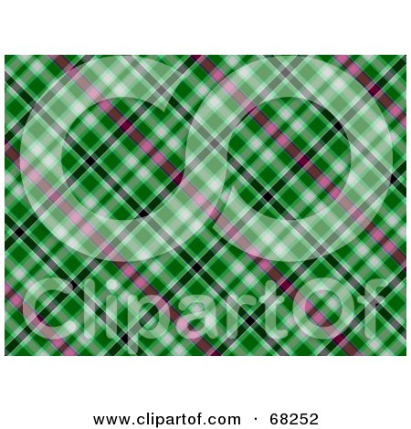 Royalty-Free (RF) Clipart Illustration of a Green Plaid Background by MacX