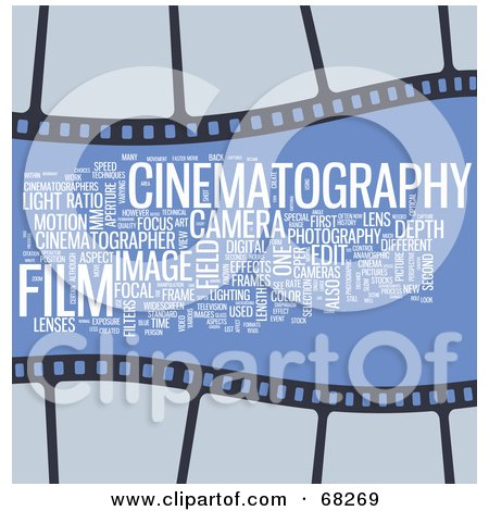 Royalty-Free (RF) Clipart Illustration of a Cinematography Word Collage - Version 2 by MacX