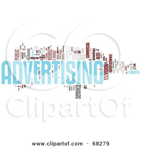 Royalty-Free (RF) Clipart Illustration of an Advertising Word Collage - Version 2 by MacX