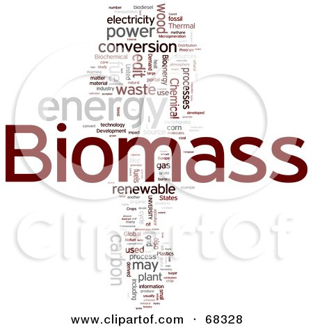 Royalty-Free (RF) Clipart Illustration of a Biomass Word Collage - Version 1 by MacX