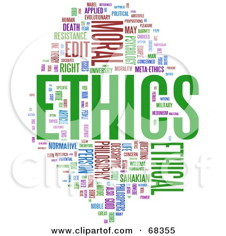 Royalty-Free (RF) Clipart Illustration of an Ethics Word Collage - Version 1 by MacX