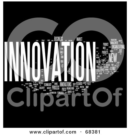Royalty-Free (RF) Clipart Illustration of an Innovation Word Collage - Version 2 by MacX