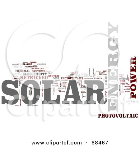 Royalty-Free (RF) Clipart Illustration of a Solar Power Word Collage - Version 5 by MacX