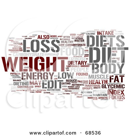 Royalty-Free (RF) Clipart Illustration of a Diet Word Collage - Version 2 by MacX