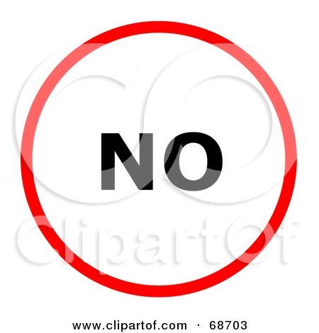 Royalty free rf clipart illustration of a red no circle for Free clipart no copyright