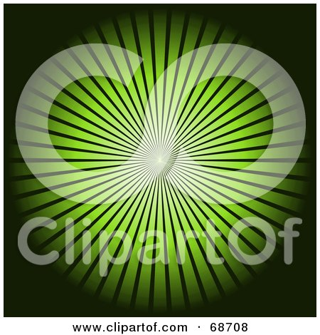 Royalty-Free (RF) Clipart Illustration of a Black Background With A Bright Green Burst by oboy