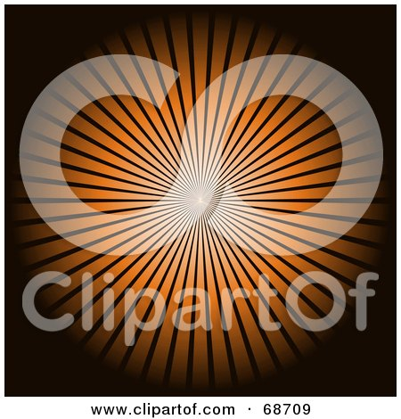 Royalty-Free (RF) Clipart Illustration of a Black Background With A Bright Orange Burst by oboy