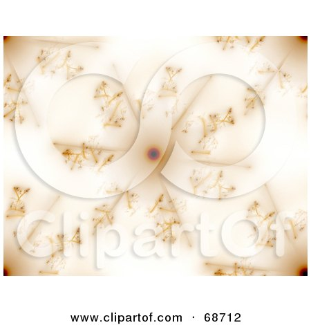 Royalty-Free (RF) Clipart Illustration of an Abstract Brown Snowflake Fractal Background by oboy