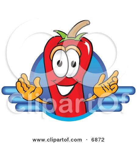 Chili Pepper Mascot Cartoon Character Logo Posters, Art Prints