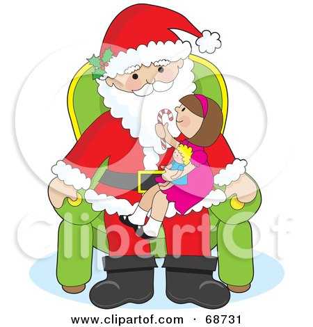 Royalty-Free (RF) Santas Lap Clipart, Illustrations, Vector ...