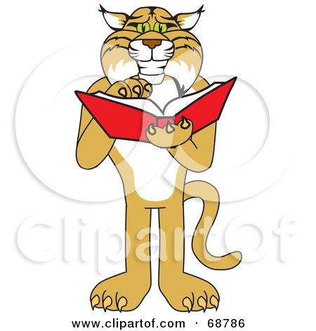 Bobcat Character Reading Posters, Art Prints