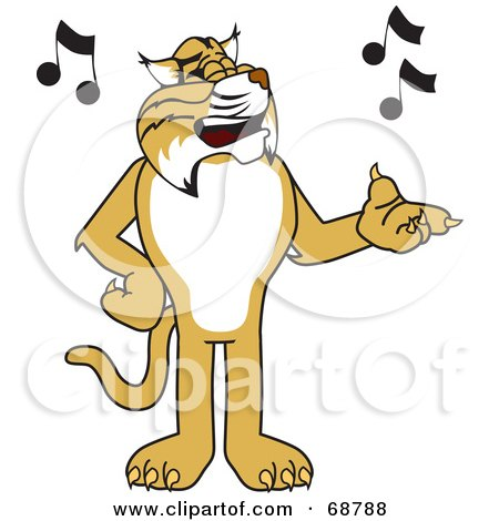Bobcat Character Singing Posters, Art Prints