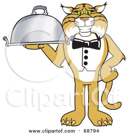 Bobcat Character Serving a Platter Posters, Art Prints