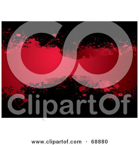 Royalty-Free (RF) Clipart Illustration of a Red And Black Blood Splatter Background - Version 2 by michaeltravers
