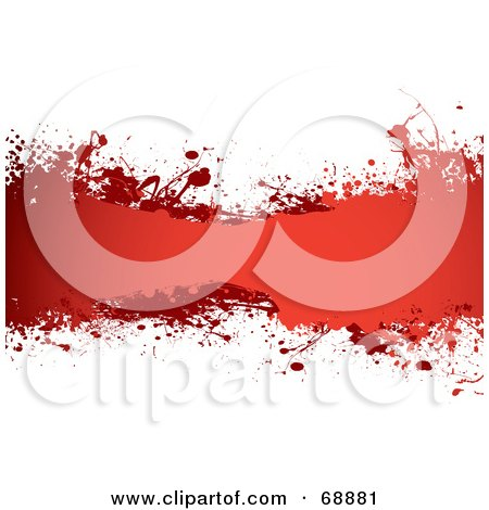 Royalty-Free (RF) Clipart Illustration of a Red And White Blood Splatter Background - Version 1 by michaeltravers
