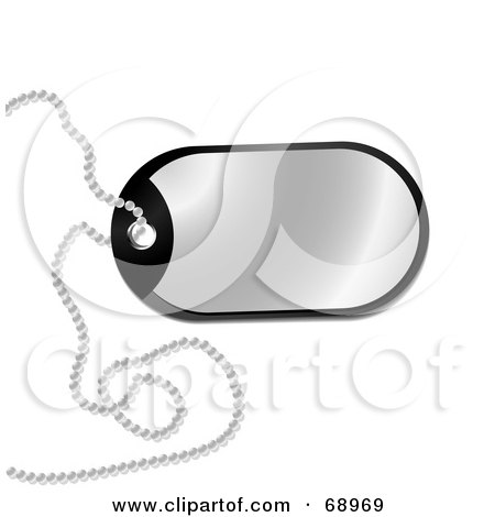 Royalty-Free (RF) Clipart Illustration of a Rounded Chrome Dog Tag by michaeltravers