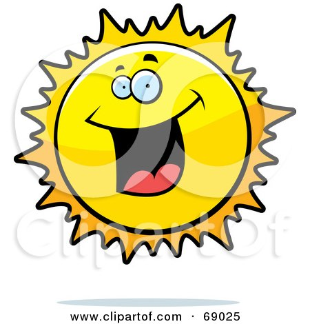 Royalty-Free (RF) Clipart Illustration of an Excited Sun Character by Cory Thoman