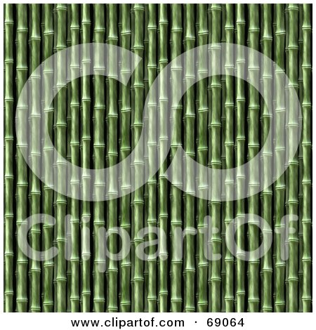 Royalty-Free (RF) Clipart Illustration of a Green Bamboo Textured Background by Arena Creative