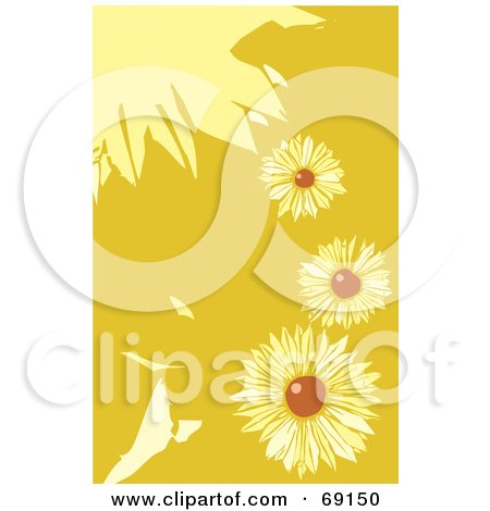 Royalty-Free (RF) Clipart Illustration of a Background Of Black Eyed Susan Flowers by xunantunich