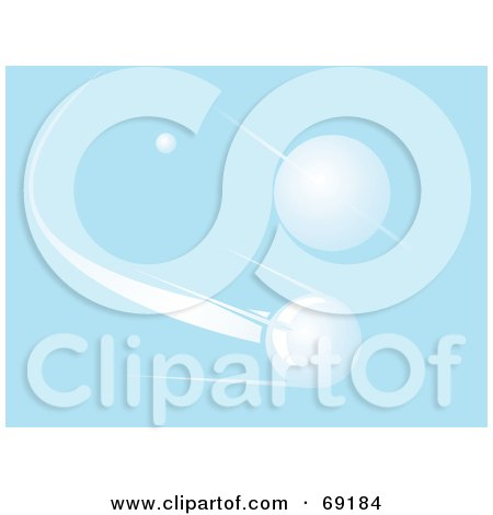 Royalty-Free (RF) Clipart Illustration of a Blue Saturn Planet Background With A Shooting Star by xunantunich