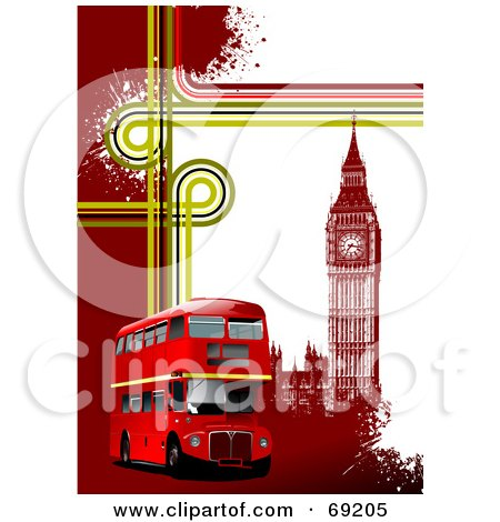 royalty-free (rf) clipart illustration of a grungy london background