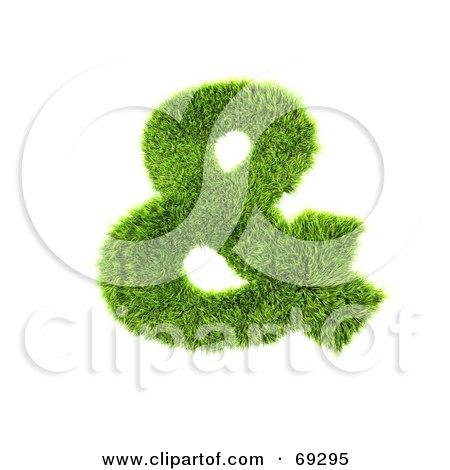 Royalty-Free (RF) Clipart Illustration of a Grassy 3d Green Symbol; Ampersand by chrisroll