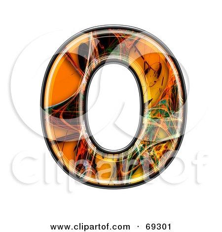 Royalty-Free (RF) Clipart Illustration of a Fiber Symbol; Capital O by chrisroll