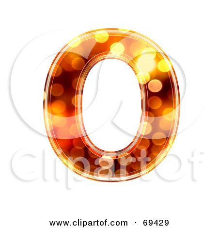 Royalty-Free (RF) Clipart Illustration of a Sparkly Symbol; Capital O by chrisroll