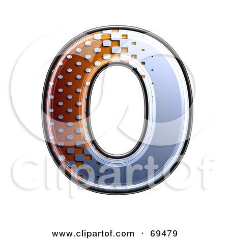 Royalty-Free (RF) Clipart Illustration of a Metal Symbol; Capital O by chrisroll
