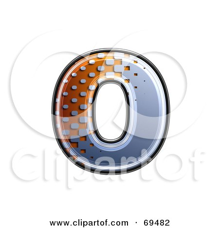 Royalty-Free (RF) Clipart Illustration of a Metal Symbol; Lowercase o by chrisroll