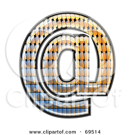 Royalty-Free (RF) Clipart Illustration of a Patterned Symbol; Arobase by chrisroll
