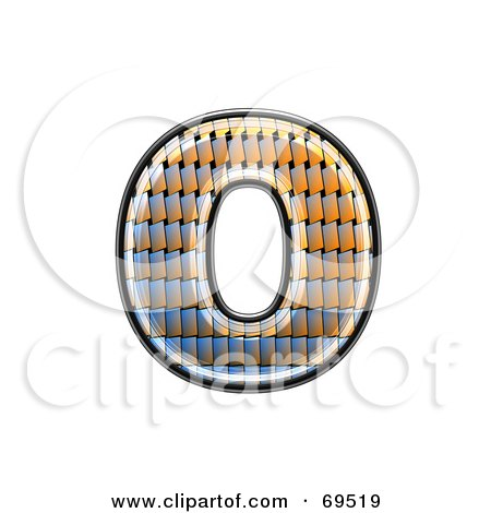 Royalty-Free (RF) Clipart Illustration of a Patterned Symbol; Lowercase o by chrisroll