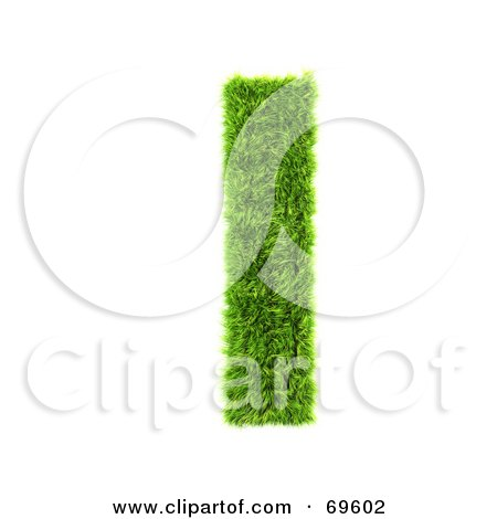Royalty-Free (RF) Clipart Illustration of a Grassy 3d Green Symbol; Letter L by chrisroll