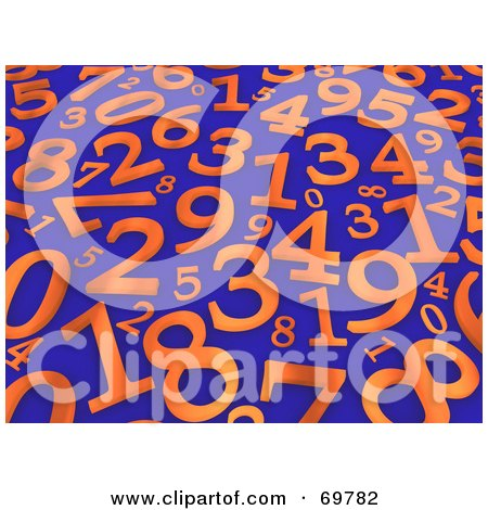 ... Illustration of a 3d Colorful Number Background On Shaded White