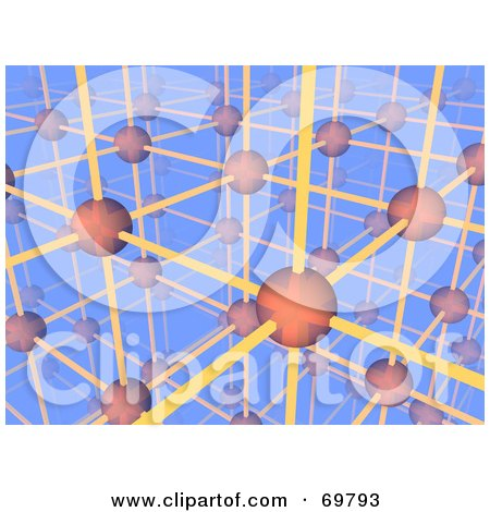 Royalty-Free (RF) Clipart Illustration of a 3d Networking Orb And Wire Background - Version 1 by Jiri Moucka