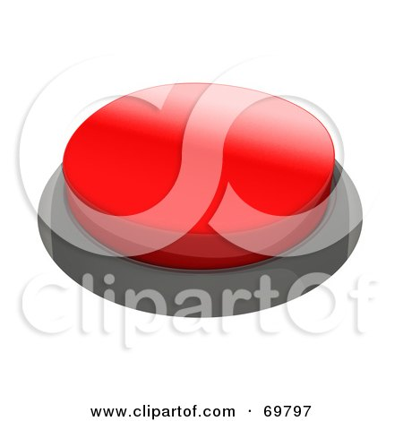 Royalty-Free (RF) Clipart Illustration of a Red 3d Push Button by Jiri Moucka