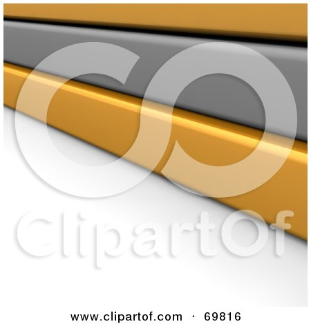 Royalty-Free (RF) Clipart Illustration of a 3d Background Of Gray And Orange Boards, On White by Jiri Moucka