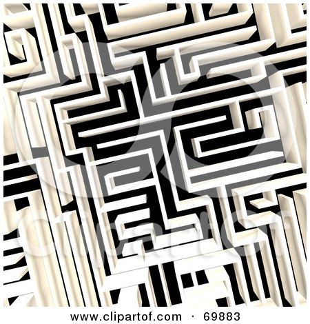 Royalty-Free (RF) Clipart Illustration of an Aerial Maze by MacX