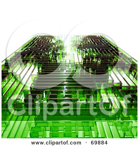 Royalty-Free (RF) Clipart Illustration of a Green Glass Maze by MacX