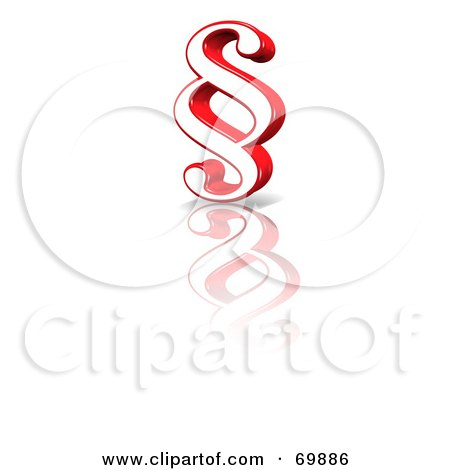 Royalty-Free (RF) Clipart Illustration of a Paragraph Symbol Icon - Version 2 by MacX