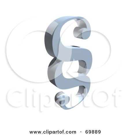 Royalty-Free (RF) Clipart Illustration of a Paragraph Symbol Icon - Version 5 by MacX