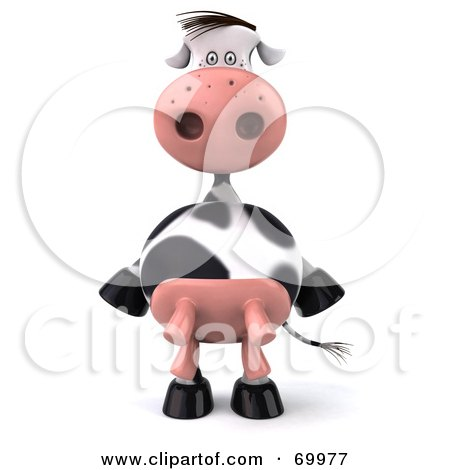 Royalty-Free (RF) Clipart Illustration of a 3d Horton The Cow Standing And Facing Front by Julos