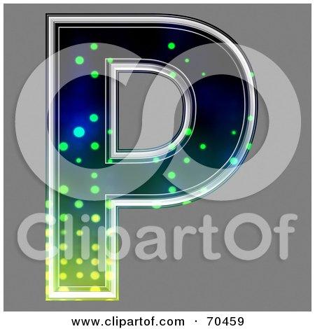 Royalty-Free (RF) Clipart Illustration of a Halftone Symbol; Capital P by chrisroll